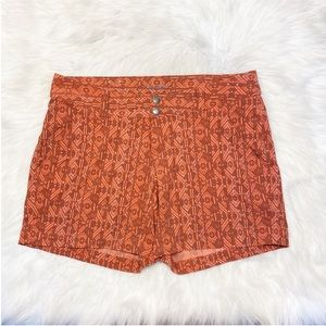 Columbia Saturday Trail Aztec Shorts Orange Size 8